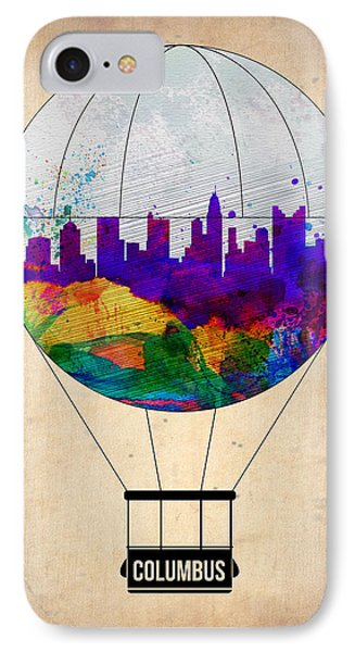 Columbus Air Balloon IPhone Case by Naxart Studio