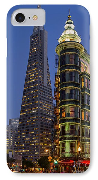Columbus And Transamerica Buildings IPhone Case by Jerry Fornarotto