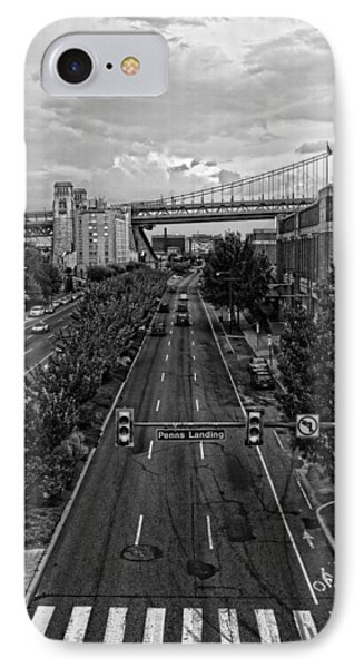 IPhone Case featuring the photograph Columbus Boulevard by Hugh Smith