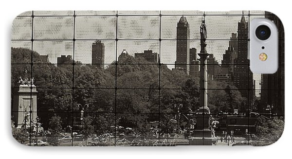Columbus Circle Through The Time Warner Glass Window IPhone Case