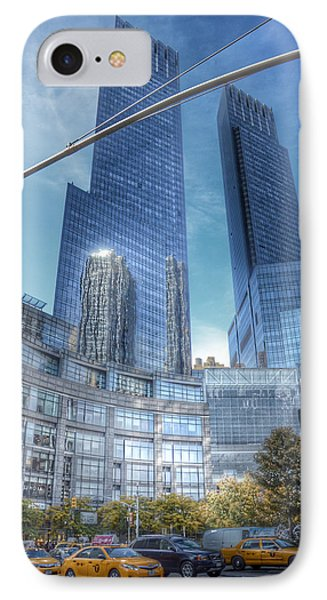 New York - Columbus Circle - Time Warner Center IPhone Case by Marianna Mills