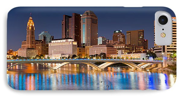 Columbus Ohio Pano  IPhone Case by Emmanuel Panagiotakis