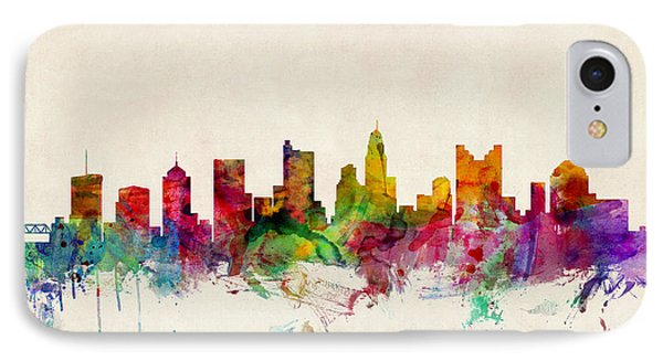 Columbus Ohio Skyline IPhone Case by Michael Tompsett