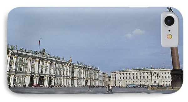 Column In Front Of A Museum, State IPhone Case by Panoramic Images