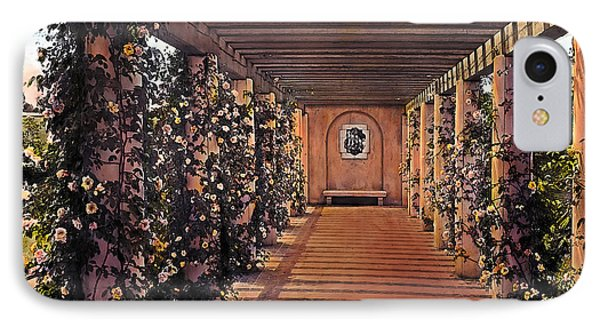 Columns And Flowers 2 Phone Case by Terry Reynoldson
