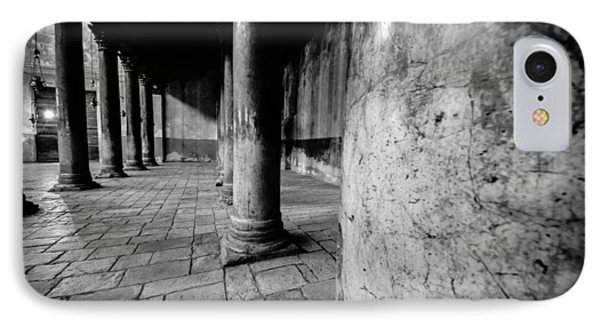 Columns At The Church Of Nativity Phone Case by David Morefield