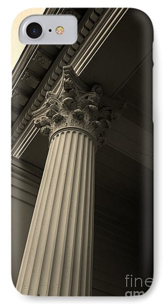Columns IPhone Case by Edward Fielding