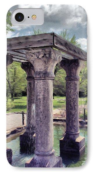 Columns In The Water Phone Case by Jeffrey Kolker
