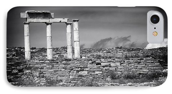 Columns Of History On Delos Island IPhone Case by John Rizzuto