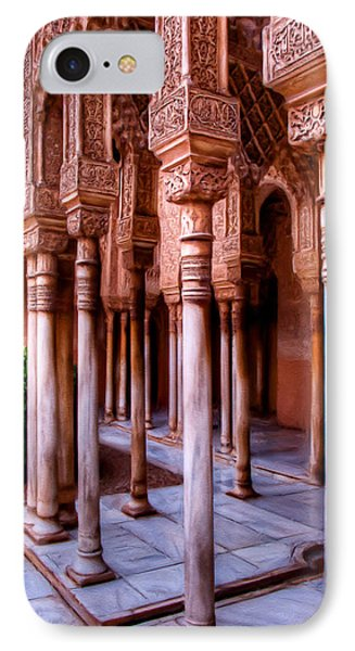 Columns Of The Court Of The Lions - Painting IPhone Case