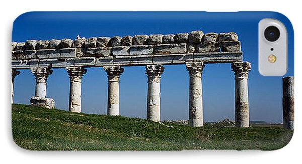 Columns On A Landscape, Apamea, Syria IPhone Case by Panoramic Images