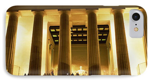 Columns Surrounding A Memorial, Lincoln IPhone 7 Case by Panoramic Images