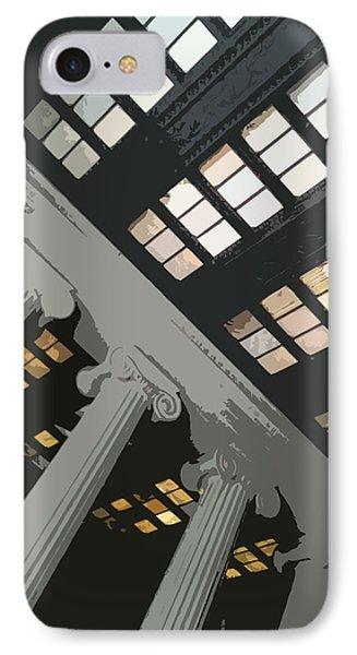 Columns IPhone Case by Julio Lopez