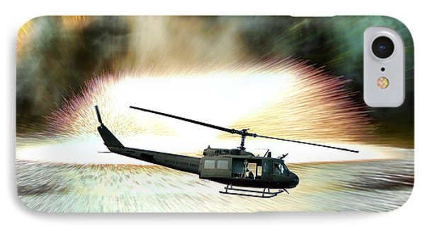 Helicopter iPhone 7 Case - Combat Helicopter by Olivier Le Queinec