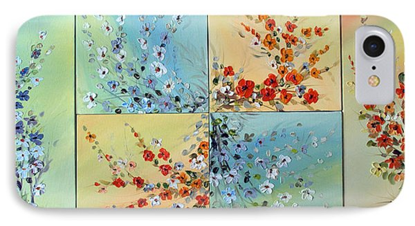 IPhone Case featuring the painting Combo Flowers by Dorothy Maier