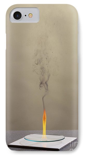 Combustion Of Cyclohexene Phone Case by Martyn F. Chillmaid