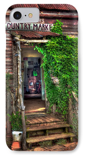 Sharecroppers Country Market Come Right In IPhone Case by Reid Callaway