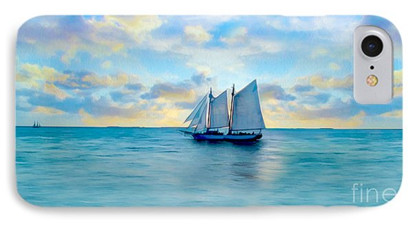 Come Sail Away Painting IPhone Case by Jon Neidert
