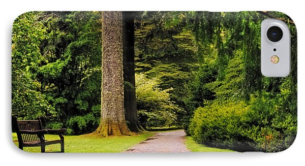 Come Sit With Me. Benmore Botanical Garden. Scotland Phone Case by Jenny Rainbow