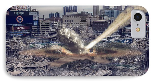 IPhone Case featuring the photograph Comerica Park Asteroid by Nicholas  Grunas