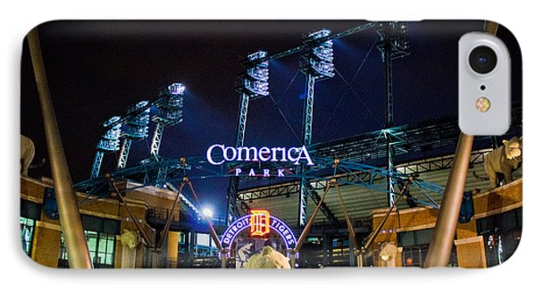 Comerica Park At Night  Phone Case by John McGraw