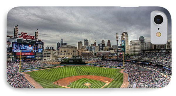 Comerica Park Home Of The Tigers IPhone Case by Shawn Everhart
