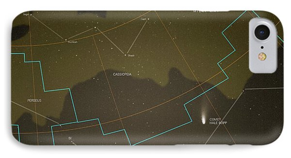 Comet Hale-bopp And Constellations IPhone Case by Detlev Van Ravenswaay