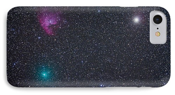 Comet Hartley 2 Near The Pacman Nebula IPhone Case
