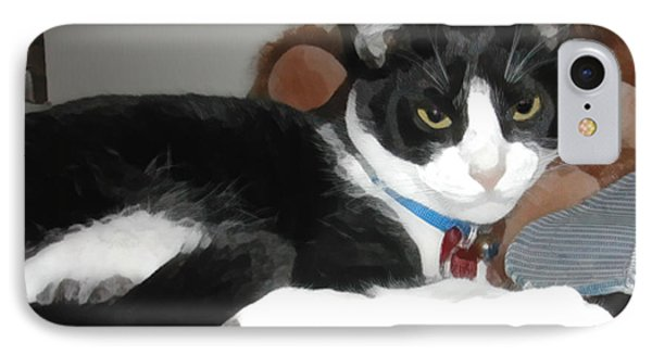 Comfy Kitty Phone Case by Jeanne A Martin