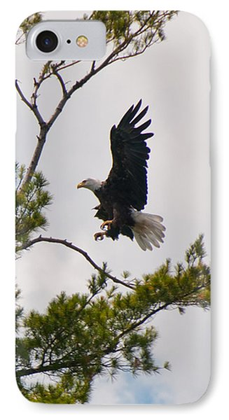 IPhone Case featuring the photograph Coming In For A Landing by Brenda Jacobs