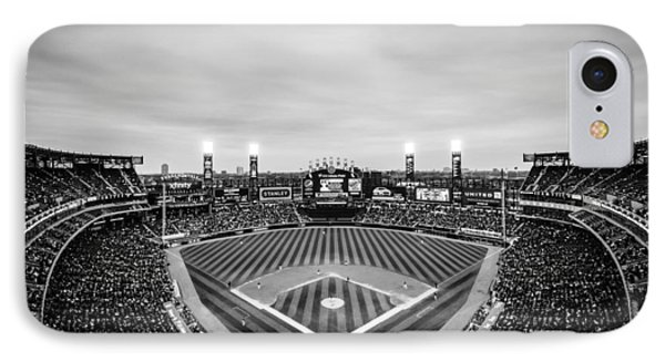Comiskey Park Night Game - Black And White IPhone Case