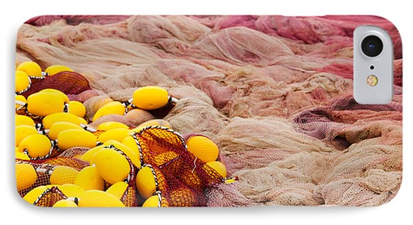 Commercial Fishing Nets With Floats IPhone Case by Panoramic Images