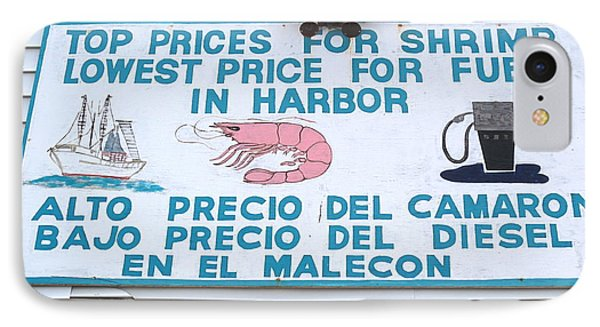 Commercial Shrimp Business In Ft Myers Florida Posted Sign Phone Case by Robert Birkenes