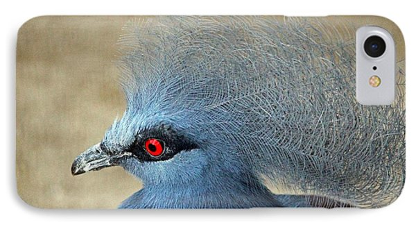 Common Crowned Pigeon Phone Case by Cynthia Guinn