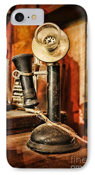 Communication - Candlestick Phone Phone Case by Paul Ward