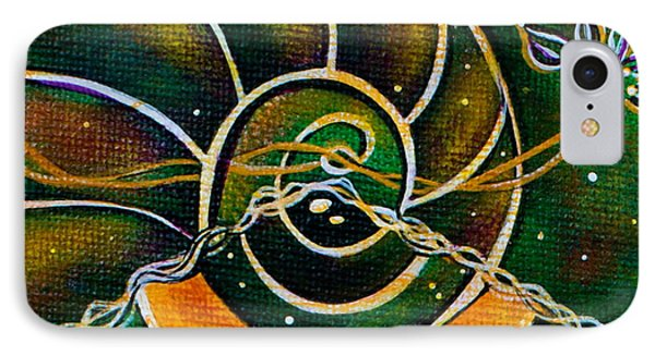 IPhone Case featuring the painting Communicator Spirit Eye by Deborha Kerr