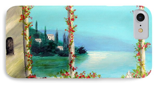 IPhone Case featuring the painting Como Italy by Larry Cirigliano