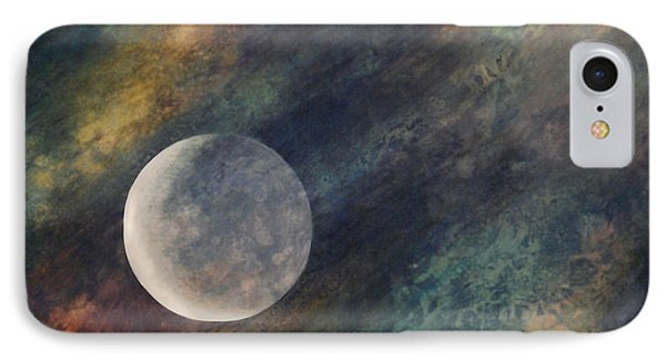 IPhone Case featuring the painting Companion Moon  by Ursula Freer