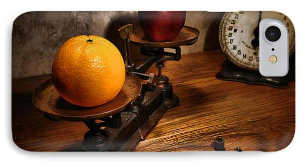 Comparing Apple And Orange Phone Case by Olivier Le Queinec