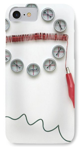 Compasses Arranged Around A Coil IPhone Case by Dorling Kindersley/uig