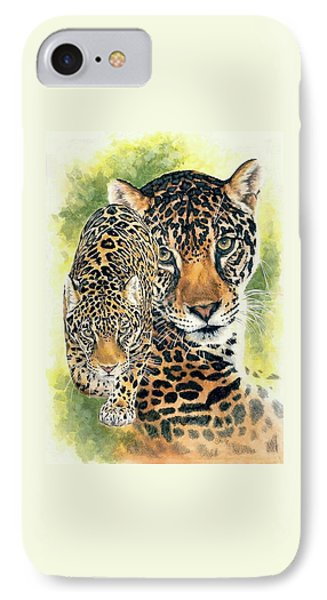 IPhone Case featuring the mixed media Compelling by Barbara Keith