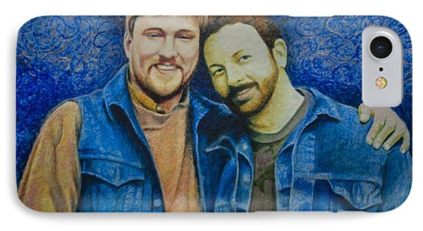 IPhone Case featuring the painting Complete_portrait Of Craig And Ron by Ron Richard Baviello