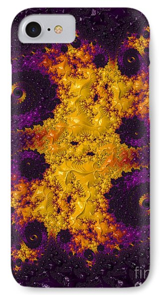 Complimentary - Yellow And Purple Phone Case by Heidi Smith