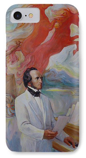 IPhone Case featuring the painting Composer Felix Mendelssohn by Svitozar Nenyuk