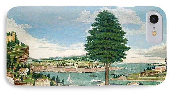 Composite Harbor Scene With Castle Phone Case by Jurgen Frederick Huge