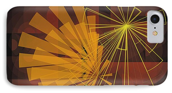 Composition16 IPhone Case by Terry Reynoldson