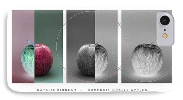 Compositionally Apples Phone Case by Natalie Kinnear