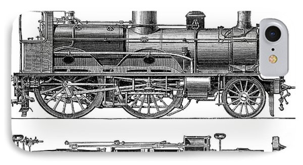 Compound Steam Locomotive IPhone Case by Science Photo Library