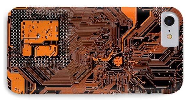 Computer Motherboard IPhone Case by Antonio Romero