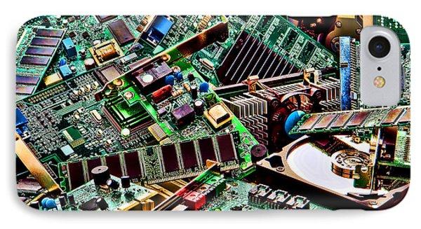 Computer Parts Phone Case by Olivier Le Queinec